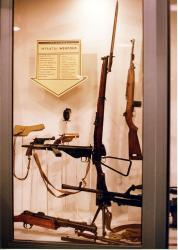 A display of Infantry weapons of World War 2